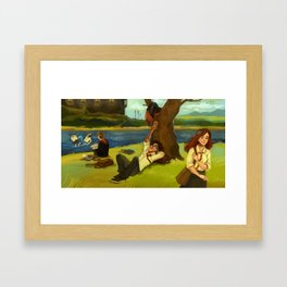 Hogwarts Days Framed Art Print