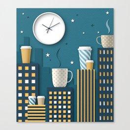 Coffee Night Canvas Print