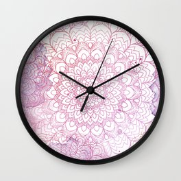Mandala Watercolor Wall Clock