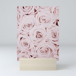 Flowers, Roses, Neutral, Minimal, Modern, Wall art Mini Art Print