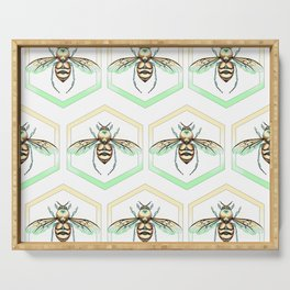 Queen/King Bee Warm Colors Serving Tray