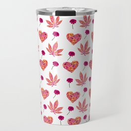 i Heart Pot Leaf Print Travel Mug