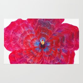 Hibiscus Flower Power Rug