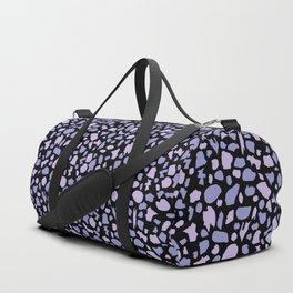 Terrazzo in Lilacs and Black Duffle Bag