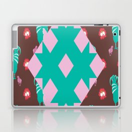 Animals Rooster hens chicks chickens Plaid Star Flower Floral sunflower Laptop & iPad Skin