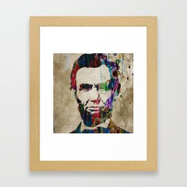 Abraham Lincoln Watercolor Modern Abstract GIANT PRINT ART Framed Art Print