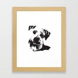 Schnauzer Dog Framed Art Print