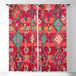 (N18) Traditional Colored Oriental Moroccan Artwork Blackout Curtain
