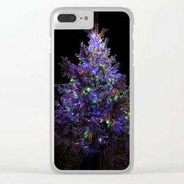 Magic Christmas tree, night decoration in Rovaniemi, Finland Clear iPhone Case