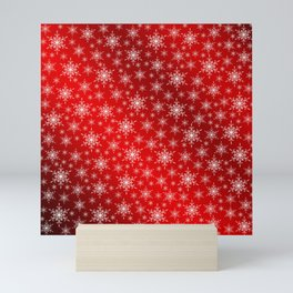 red,white,star, stars, Christmas + Sample, colored, elegant, festive, snowflake, graphic, Mini Art Print