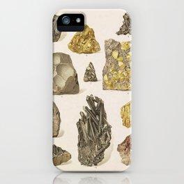 Vintage Gold Minerals iPhone Case