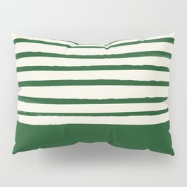 Holiday x Green Stripes Pillow Sham