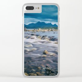Mountain Bliss Clear iPhone Case
