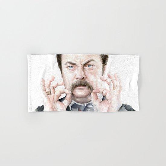 Swanson Mustache Hand & Bath Towel