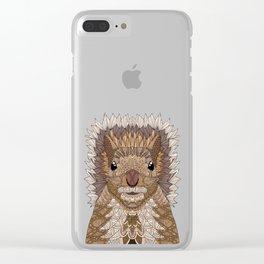 Ornate Squirrel Clear iPhone Case
