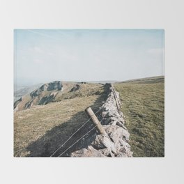 Open field at Winnats Pass Throw Blanket