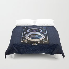 Vintage black double lens camera iPhone 4 5 6 7 8 x, pillow case, mugs and tshirt Duvet Cover