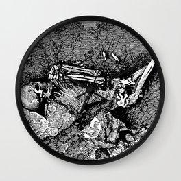 Remains of Prehistoric Man Wall Clock