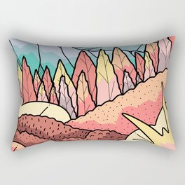 The distant snow peak Rectangular Pillow