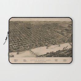 Perspective Map of Little Rock, Arkansas (1887) Laptop Sleeve