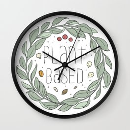 Plant Based Wall Clock