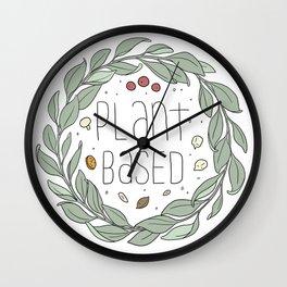 Plant Based Wall Clock