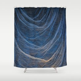 Background. Theatrical scenery with spots of searchlights close up. Shower Curtain