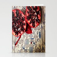 pomegranate Stationery Cards featuring Pomegranate  by Carey Lee Designs