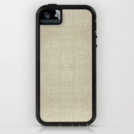 """Nude Burlap Texture"" iPhone Case"