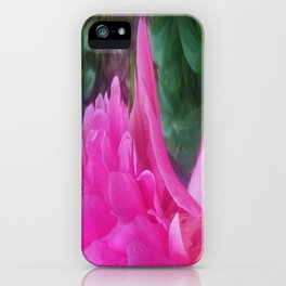 500 - Peony Abstract iPhone Case