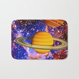 Stars and Planets Bath Mat