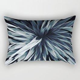 Perspective Facets-Retro Blue Rectangular Pillow