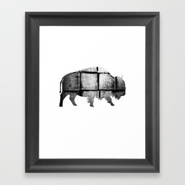 Buffalo (The Living Things Series)  Framed Art Print