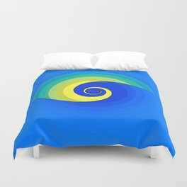 Wave in the Sunset Abstract Duvet Cover