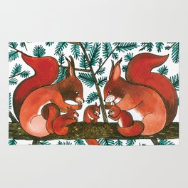 Noah's Ark - Squirrel Rug
