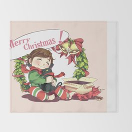 Merry Christmas from Hiccup and Toothless Throw Blanket