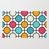 polka dots Area & Throw Rugs featuring Polka Dots by Dizzy Moments