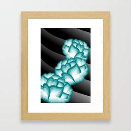 Teal Peonies Framed Art Print