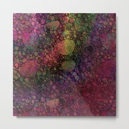 """All You Can Do"" Colorful Digital Abstract Metal Print"