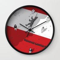 political Wall Clocks featuring Historical Political Figure by Pier Antonio Zanini