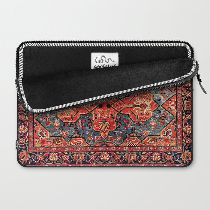 Kashan Poshti Central Persian Rug Print Laptop Sleeve