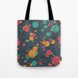 """""""Retro Colorful Polka Dots"""" Tote Bag"""
