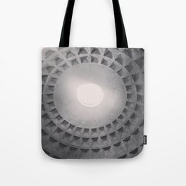 The Pantheon dome, architectural photography, Michael Kenna style, Rome photo Tote Bag