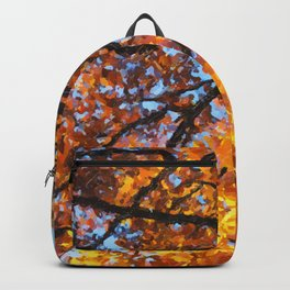 Autumnal colors in forest Backpack