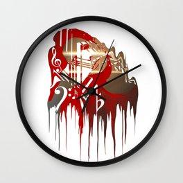 """""""Dark Paradise LDR Drip"""" Wall Clock"""
