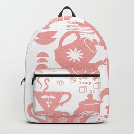 Morning ritual textured print pattern Backpack