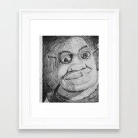 shrek Framed Art Prints featuring Shrek by Samuel P.Melton