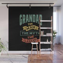 Mens Grandad The Legend Grandpa Gift Wall Mural