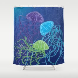 Ethereal Jellies Shower Curtain