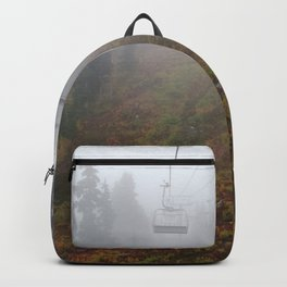 Foggy mountains fall morning Backpack